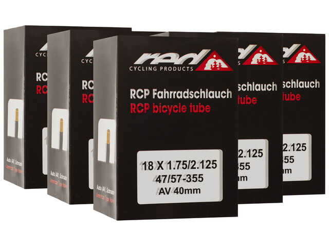 """Red Cycling Products Fahrradschlauch 18"""" 47-355 6er Set"""